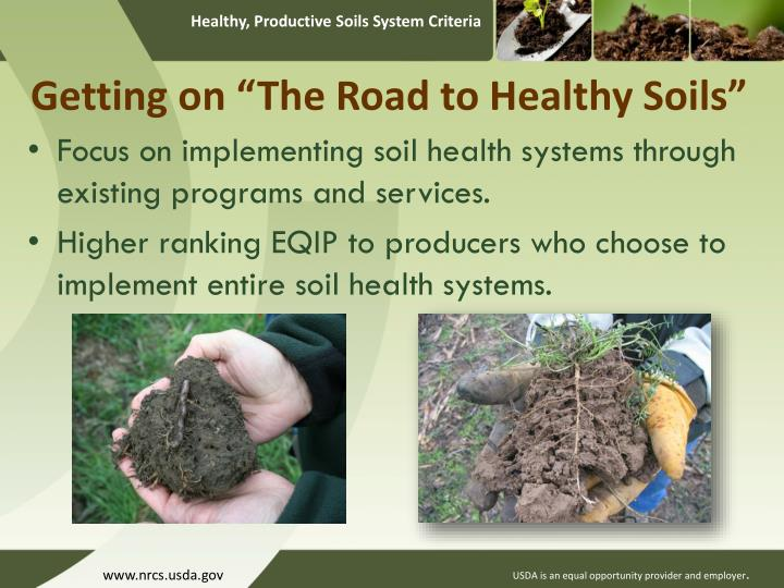 "Getting on ""The Road to Healthy Soils"""