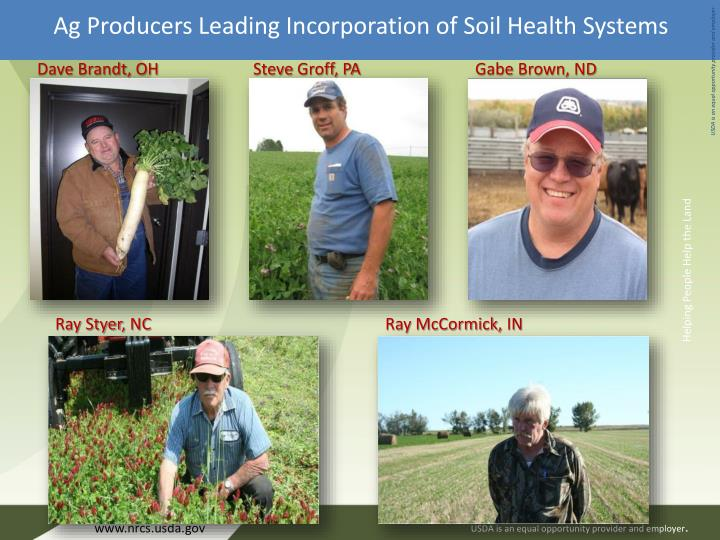 Ag Producers Leading Incorporation of Soil Health Systems