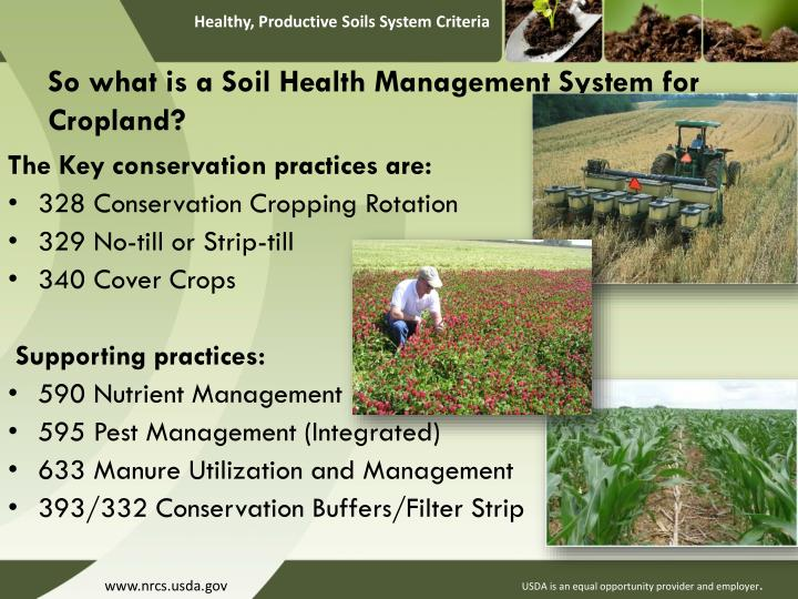 So what is a Soil Health Management System for Cropland?