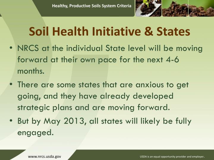 Soil Health Initiative & States