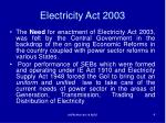 electricity act 20032