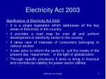 electricity act 20033