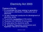 electricity act 20034