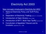 electricity act 20036