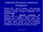 important provisions relating to distribution1