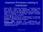 important provisions relating to distribution2