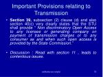important provisions relating to transmission1