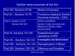 section wise overview of the act1