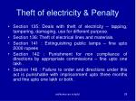 theft of electricity penalty