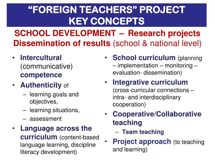 """FOREIGN TEACHERS"" PROJECT"