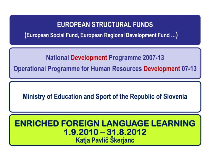 Enriched foreign language learning project