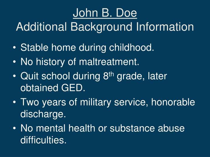 John B. Doe