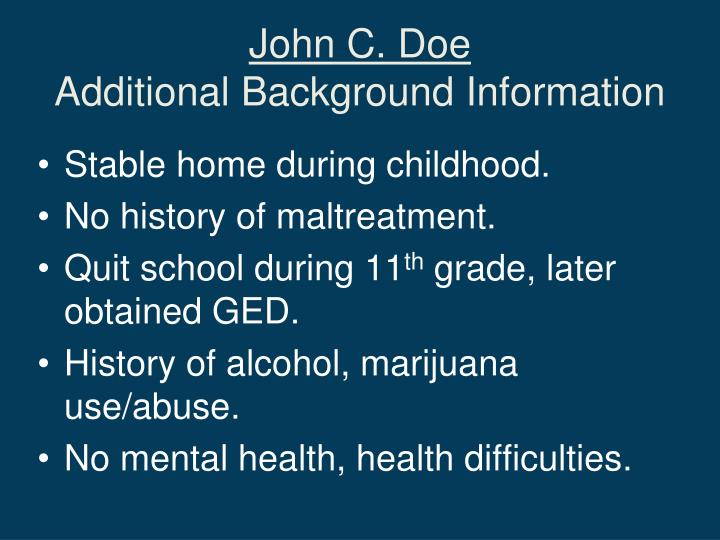 John C. Doe