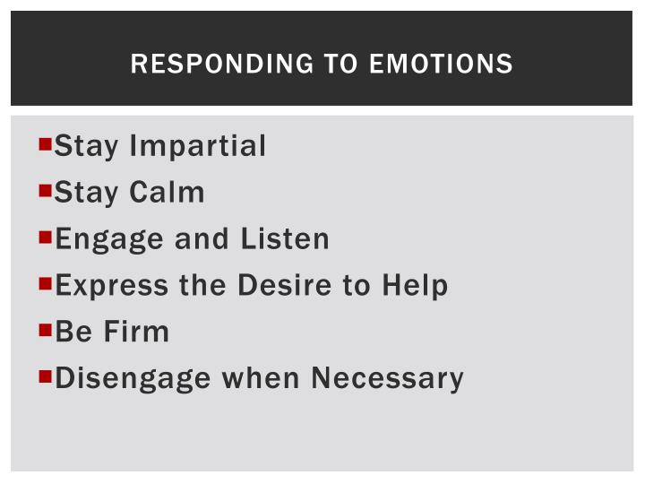 Responding to emotions