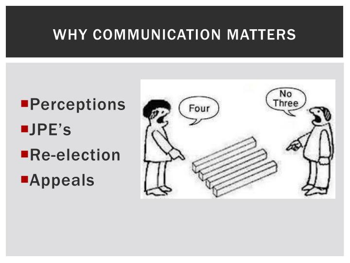 Why Communication Matters