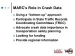 marc s role in crash data
