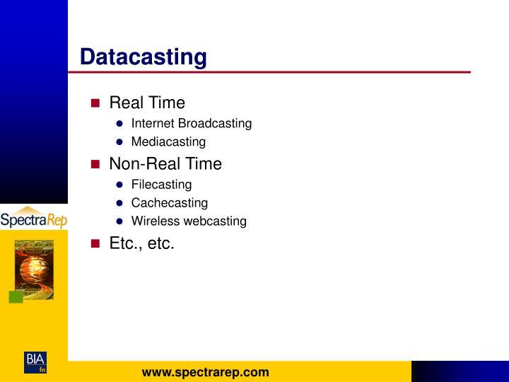 Datacasting