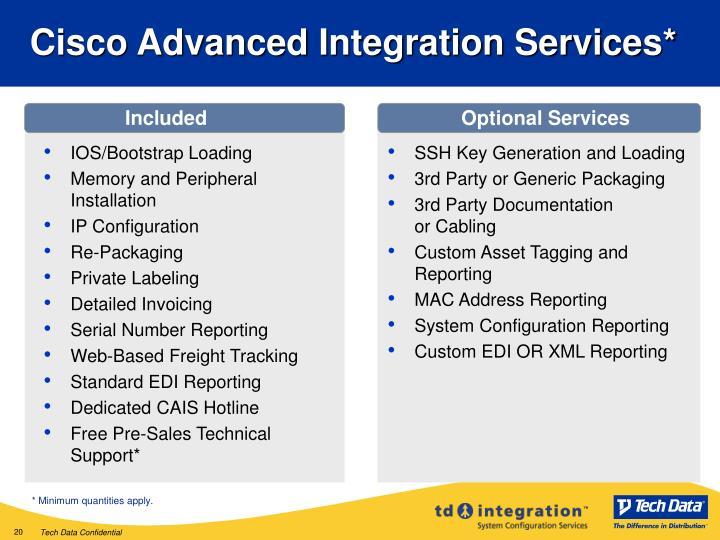Cisco Advanced Integration Services*