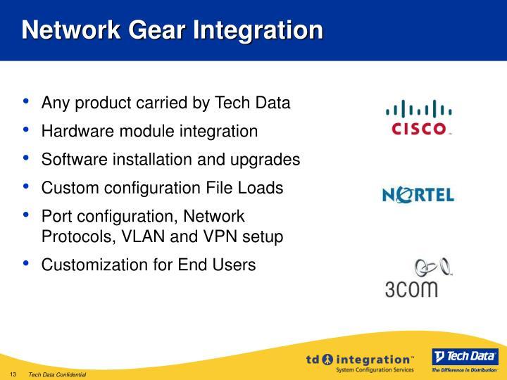 Network Gear Integration