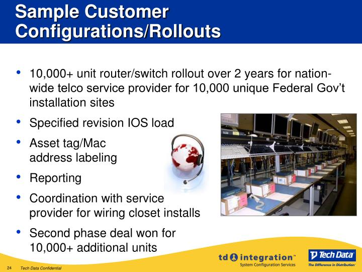 Sample Customer Configurations/Rollouts