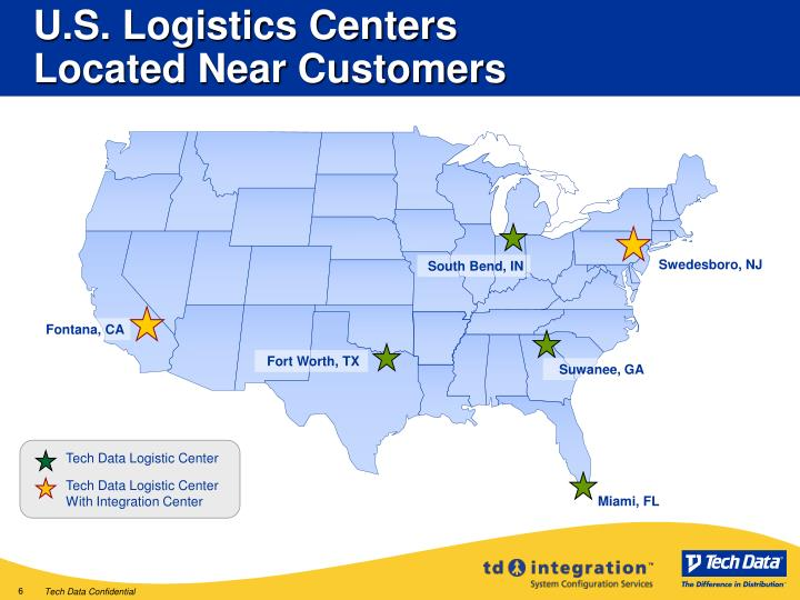 U.S. Logistics Centers