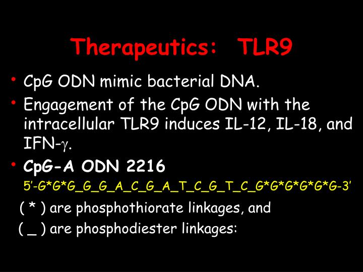 Therapeutics:  TLR9