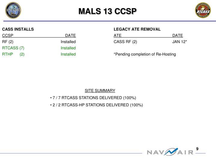 MALS 13 CCSP