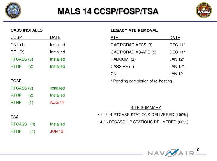 MALS 14 CCSP/FOSP/TSA