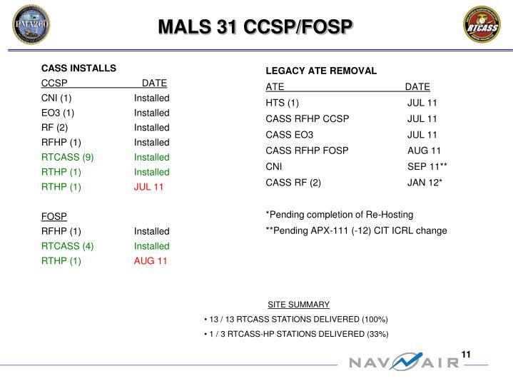 MALS 31 CCSP/FOSP