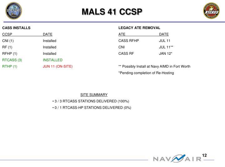 MALS 41 CCSP