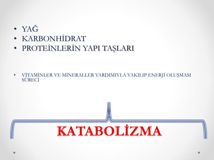 KATABOLİZMA