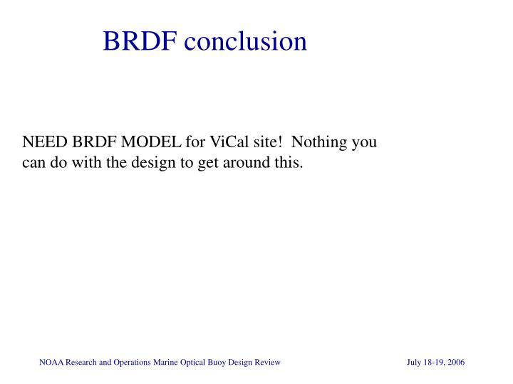 BRDF conclusion