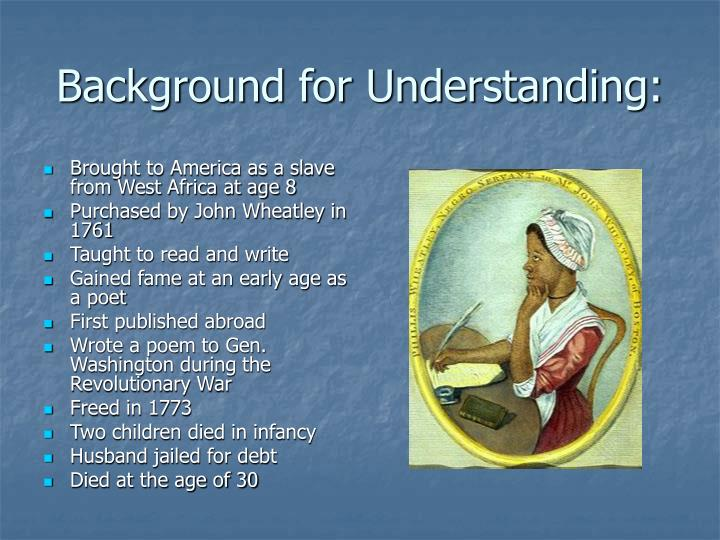 Background for Understanding: