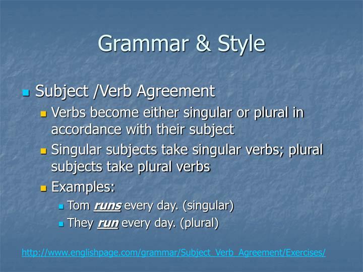 Grammar & Style