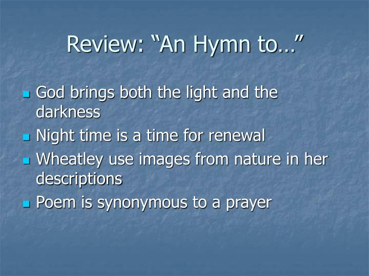 "Review: ""An Hymn to…"""
