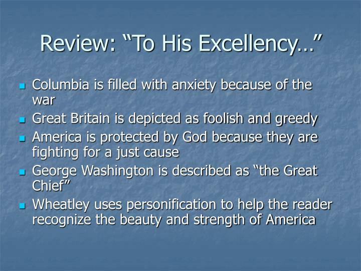 "Review: ""To His Excellency…"""