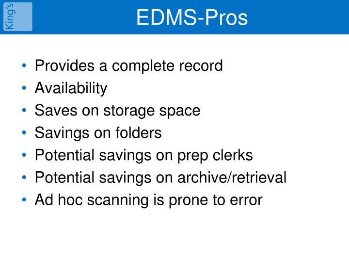 EDMS-Pros