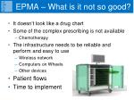 epma what is it not so good