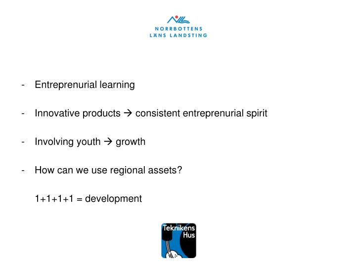 Entreprenurial learning