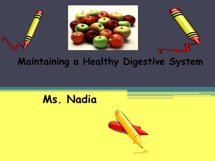Maintaining a Healthy Digestive System