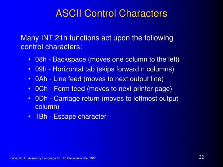 ASCII Control Characters