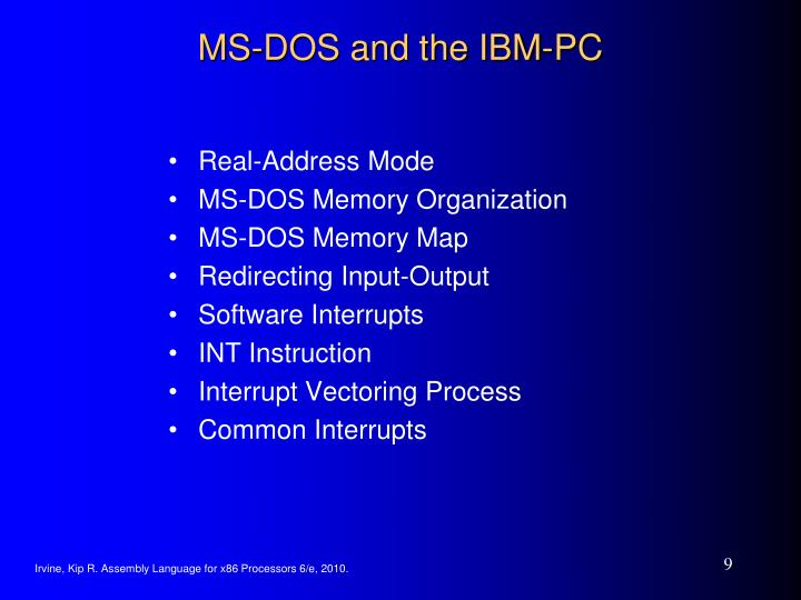 MS-DOS and the IBM-PC