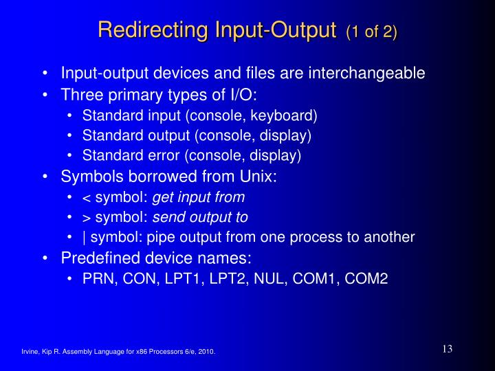 Redirecting Input-Output