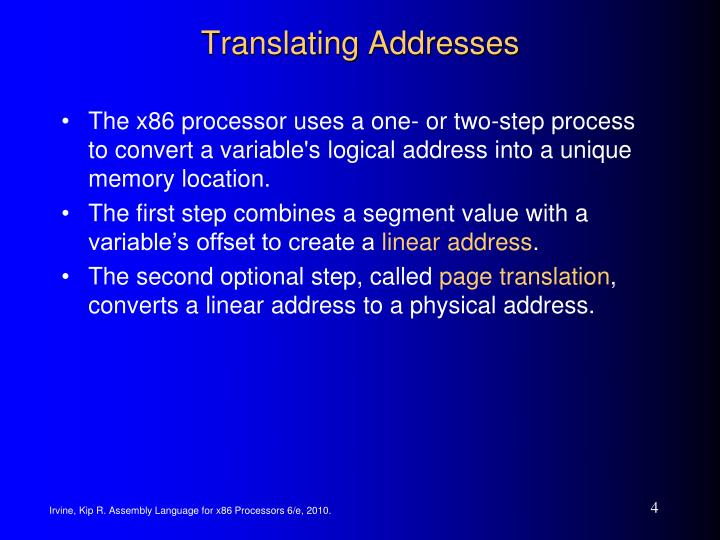 Translating Addresses