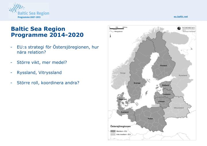 Baltic sea region programme 2014 2020