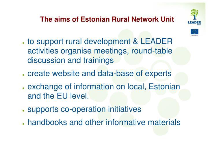 The aims of Estonian