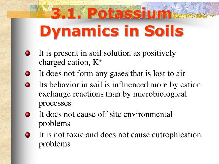 3.1. Potassium Dynamics in Soils
