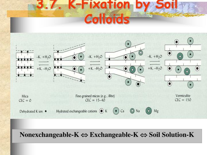 3.7. K–Fixation by Soil Colloids