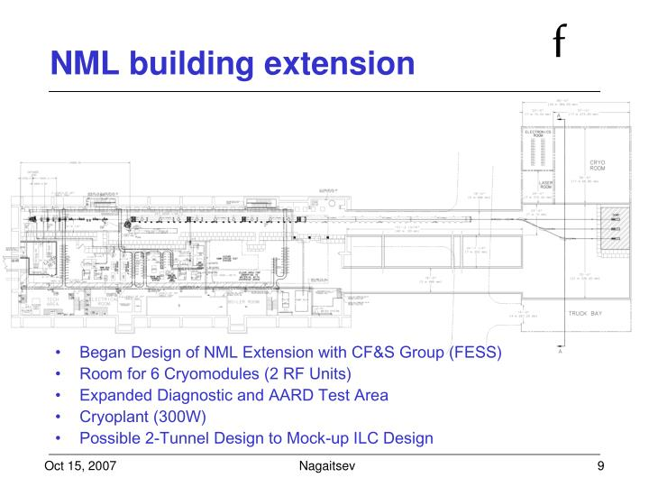 NML building extension