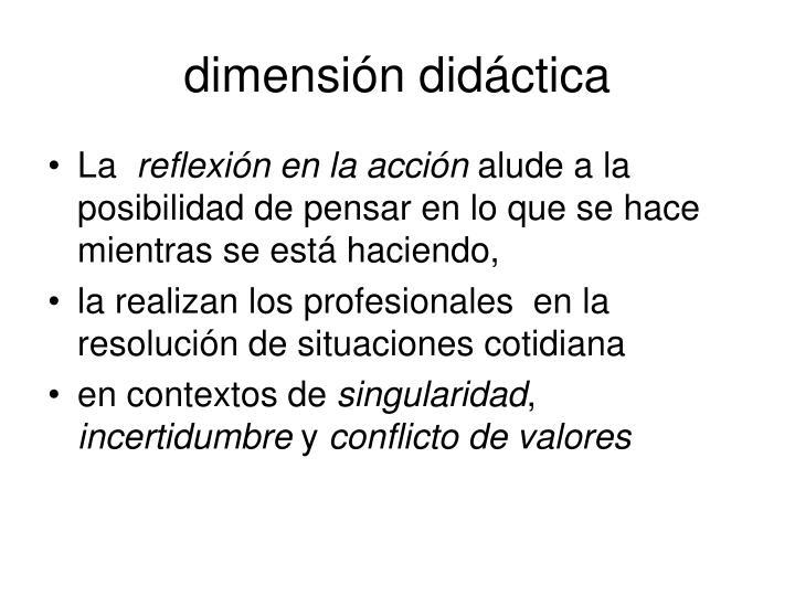 dimensión didáctica